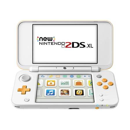 New Nintendo 2DS XL System w/ Mario Kart 7 Pre-installed, Orange & White (Ds Mario Kart)