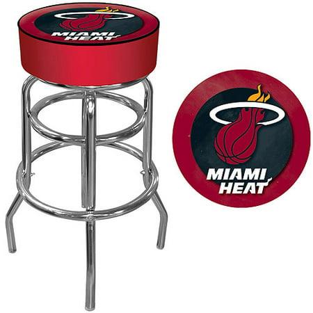 "Trademark Global NBA Miami Heat 31"" Padded Swivel Bar Stool"
