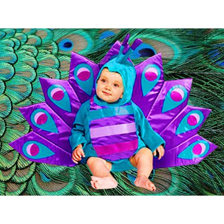 Peacock Costume Halloween Express (Peacock Halloween Costume Baby - Unique Costume 6-18)