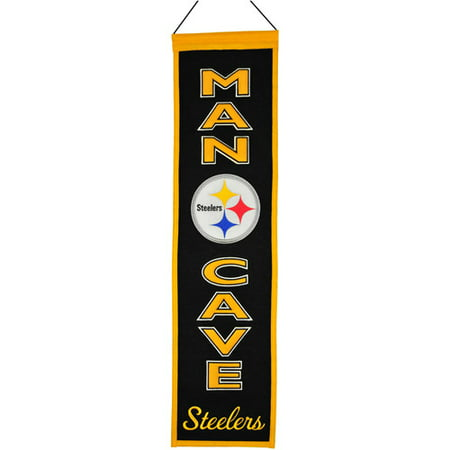 NFL Man Cave Banner, Pittsburgh Steelers