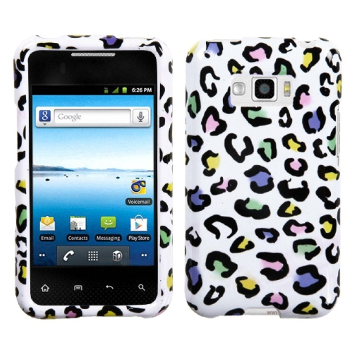 Insten Colorful Leopard Phone Case for LG: LS696 (Optimus Elite), VM696 (Optimus Elite)