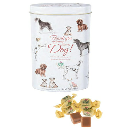 Gardiners of Scotland Vanilla Fudge in a Decorative 'Thank You For Caring For My Dog' Tin, 8.8 oz