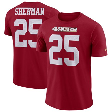 Richard Sherman San Francisco 49ers Nike Dri-FIT Player Pride 3.0 Name & Number T-Shirt - Scarlet