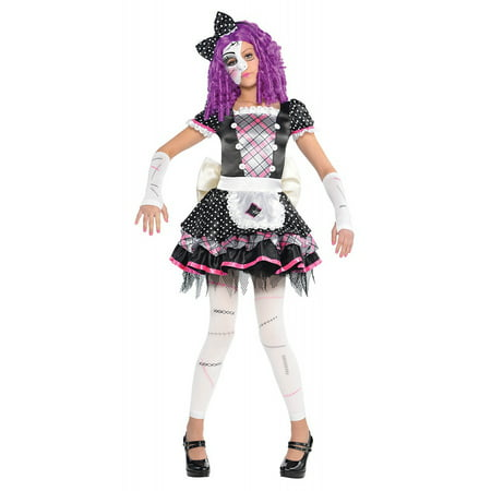 Damaged Doll Child Costume - X-Large - Voodoo Doll Costume Ideas