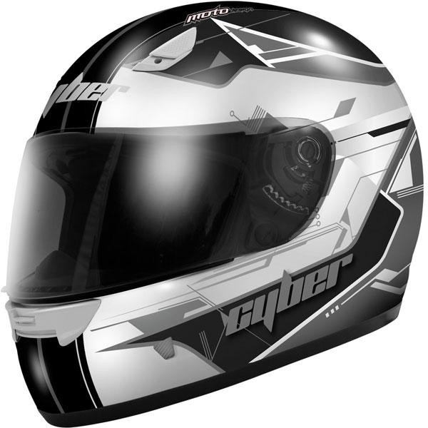 Cyber US-39 Graphic Helmet Silver/Black