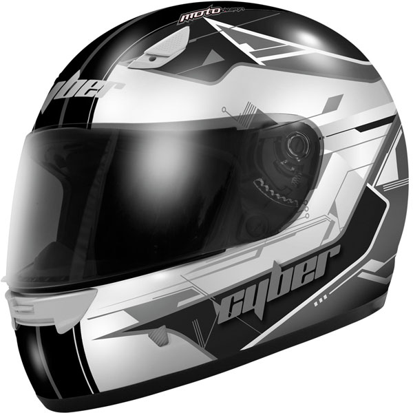 Cyber US-39 Graphic Helmet Silver/Black