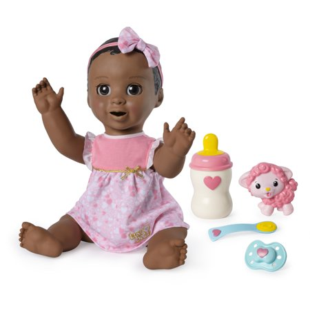 Luvabella Dark Brown Hair, Responsive Baby Doll with Real Expressions and Movement, for Ages 4 and - Wind Up Doll Makeup