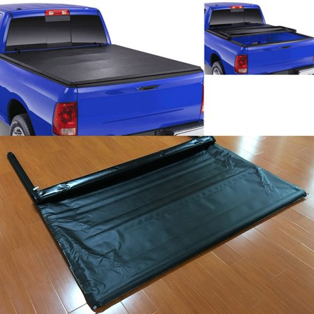 Yosoo Lock Soft Roll Up Tonneau Cover  2015-2018 for Ford F150 8 feet Bed for Car Vehicle Accessories ()