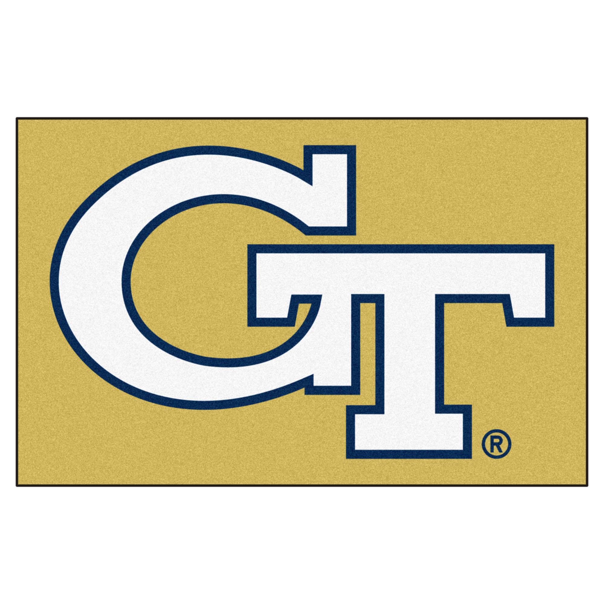 NCAA Georgia Tech Yellow Jackets, Ramblin' Wreck Starter Mat Rectangular Area Rug