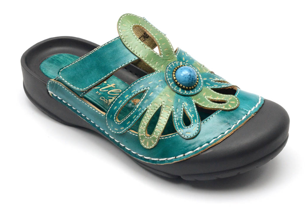 Corkys Elite Velcro Slip on Sandals Turquoise Size 11 by
