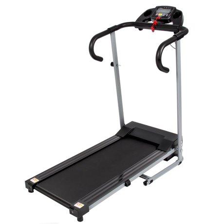 Black 500w portable folding electric motorized treadmill for Best non motorized treadmill