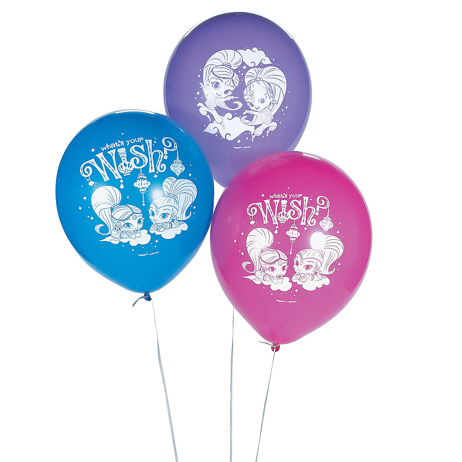 IN-13778021 Nickelodeon Shimmer & Shine 12 Latex Balloons 6 Piece(s) 2PK
