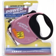 Power Walker 16` Retractable Dog Leash Large-Pink