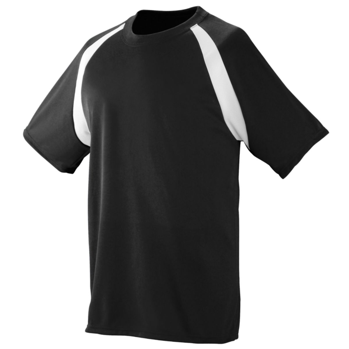 Augusta Yth Wicking Color Block Jersey Blk/Whi S - image 1 of 1