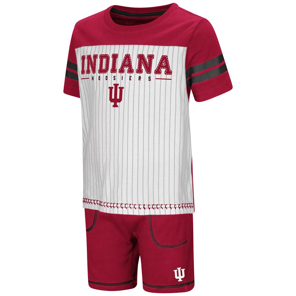Toddler Indiana Hoosiers Pinstripe Tee Shirt and Shorts Set - 2T