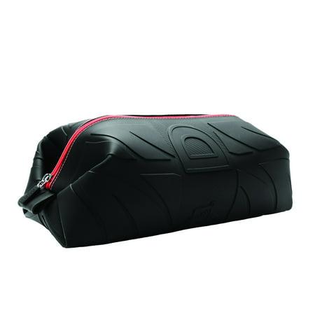 59695ee8d36e Wurkin Stiffs Mens Black   Red Silicone Doppel Kit Grooming Toiletry Travel  Bag - Walmart.com