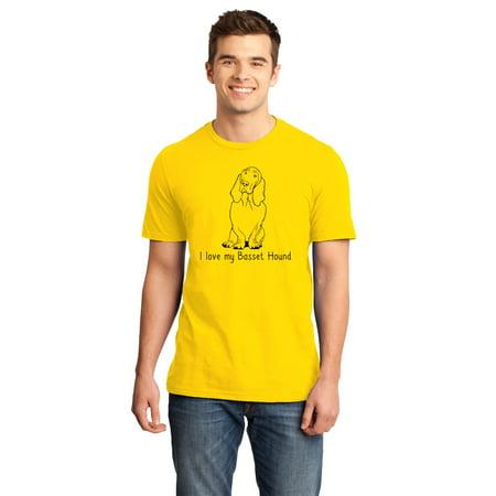 I Love my Basset Hound - Basset Hound Love Dog Owner Parent Cute Unisex T-shirt