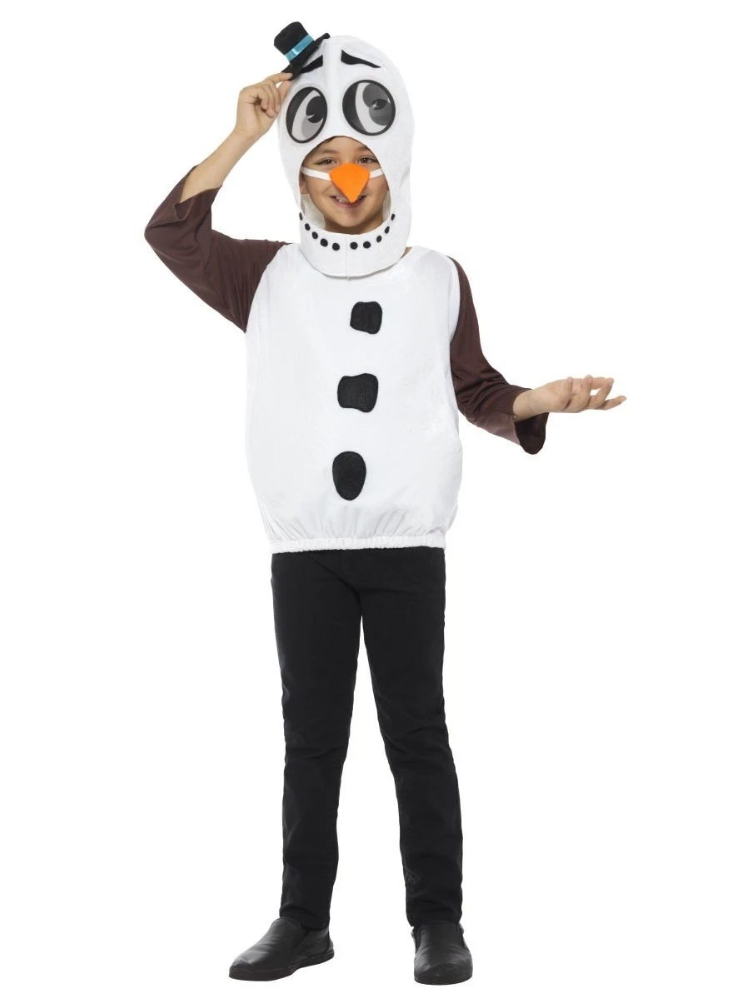 Light Up Snowman Carrot Nose Fancy Dress Accessory For Parties
