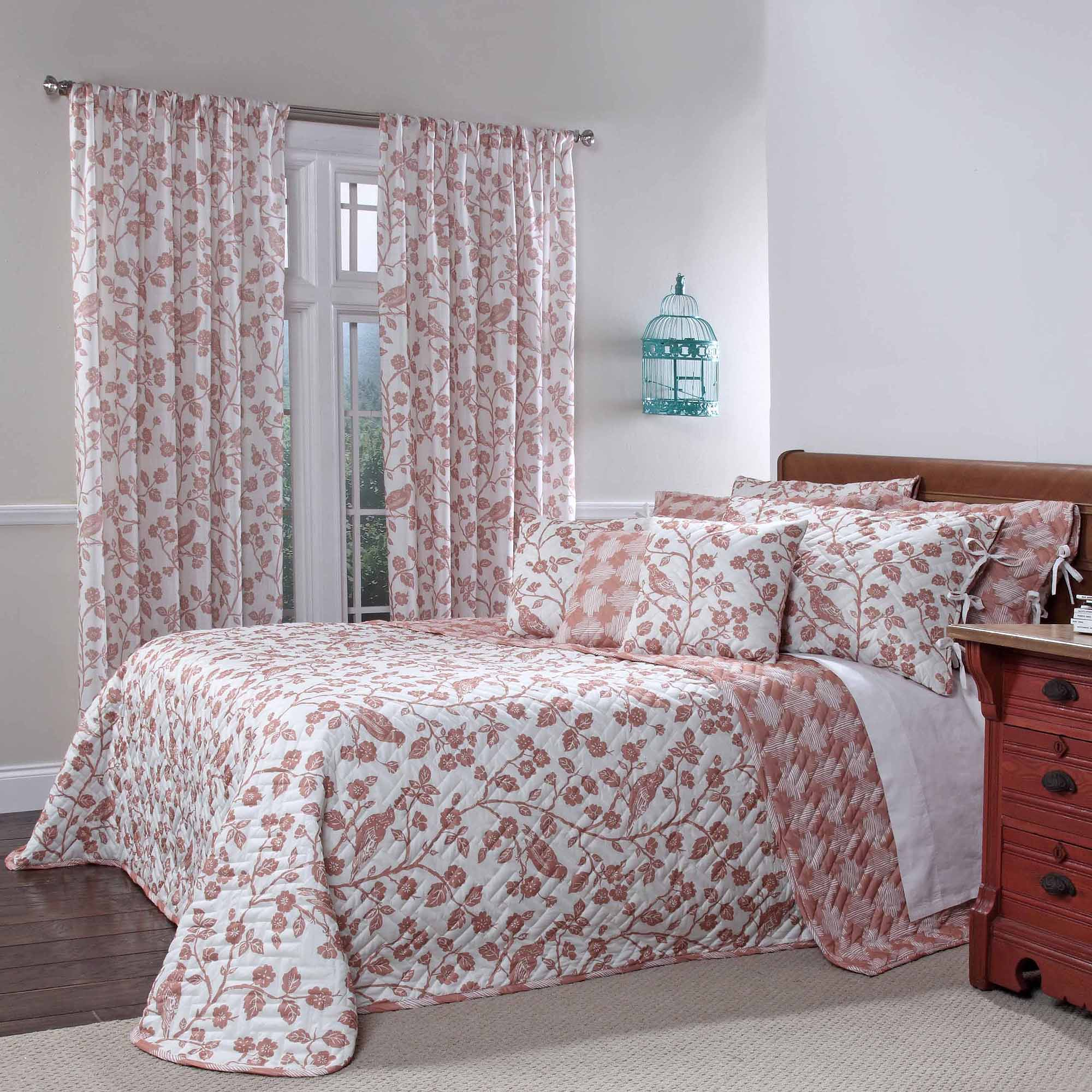 Botanica Quilted Reversible Bedspread, Sienna