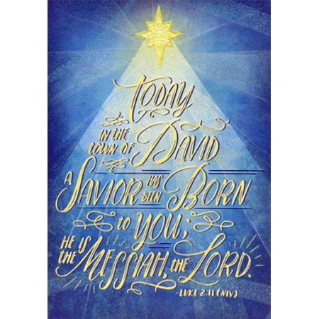 Religious Christmas Cards.Designer Greetings A Savior Has Been Born Box Of 18 Religious Christmas Cards