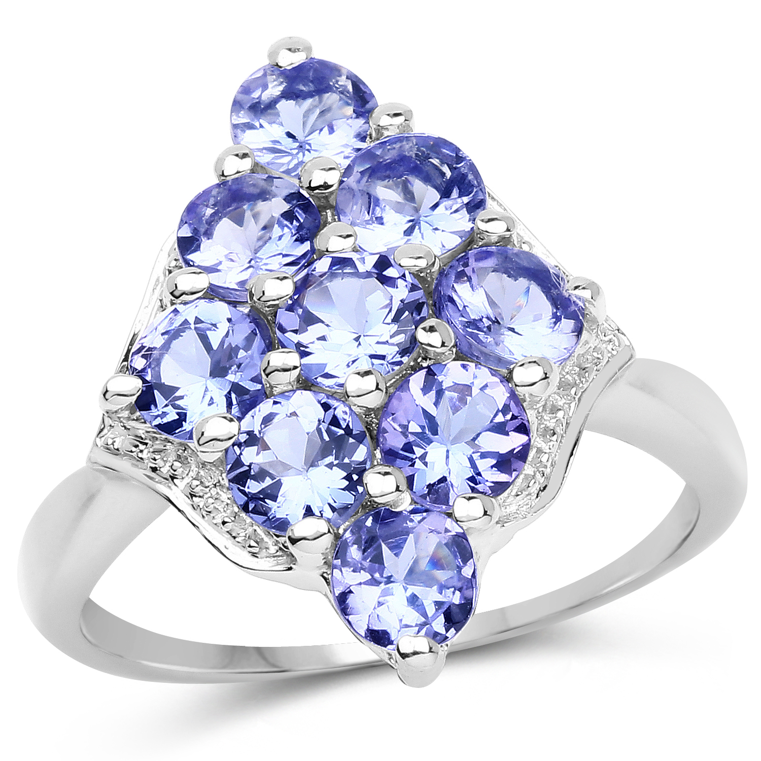 2.07 ct. Genuine Tanzanite Sterling Silver Ring by DAZYLE
