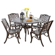 5-Pc Dining Set in Bronze Finish