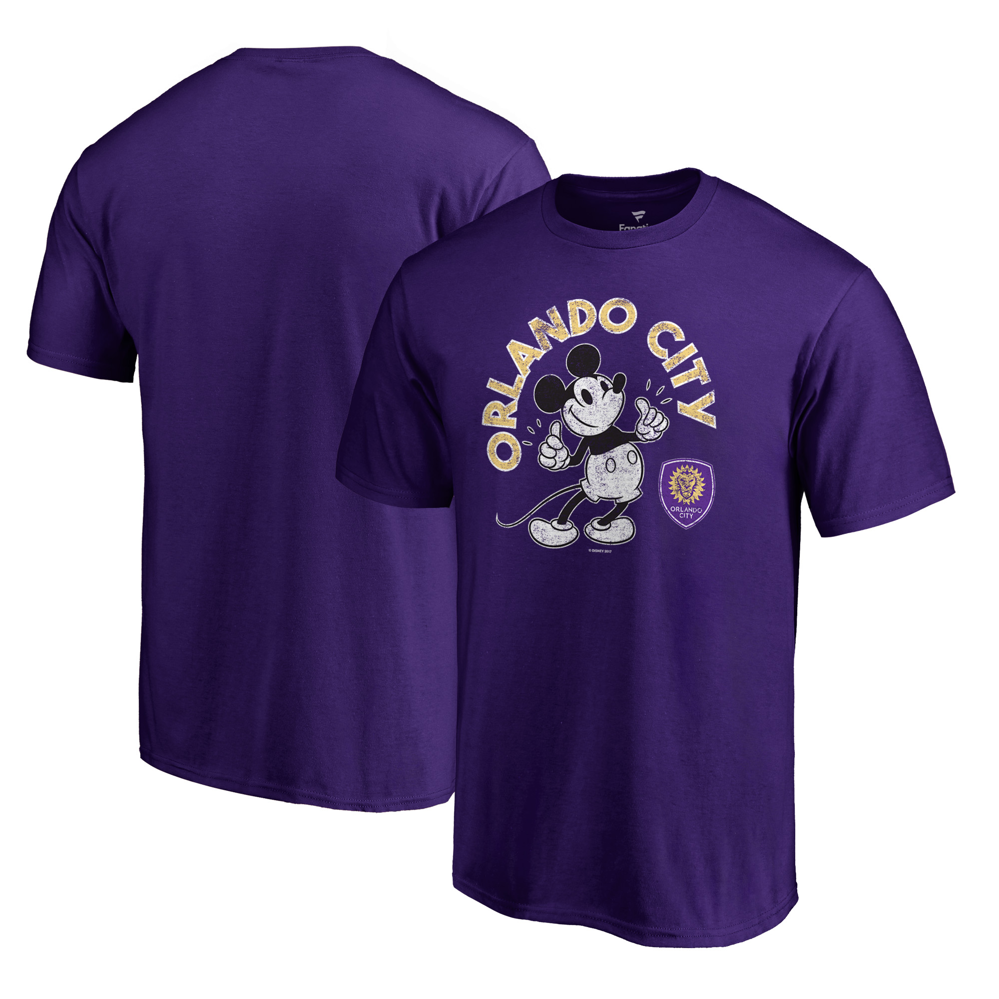 Orlando City SC Fanatics Branded Disney Mickey True Original Arch T-Shirt - Purple