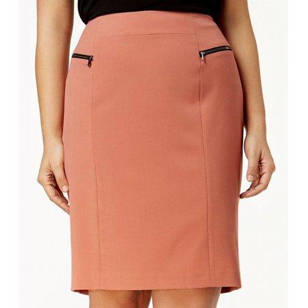 Zip Pencil Skirt - Nine West Womens Plus Zip Pocket Straight Pencil Skirt