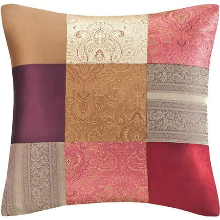 Better homes and gardens plush global patchwork decorative - Better homes and gardens pillows ...