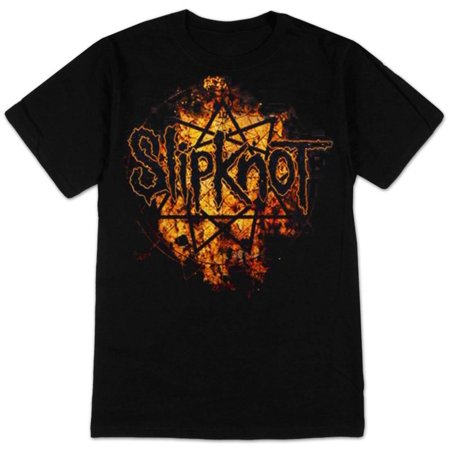 Slipknot - Radio Fires Logo Apparel T-Shirt - Black](Slipknot Suits)