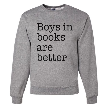 Custom Party Shop Men's Boys In Books Are Better Sweatshirt - Small - Buy Custom