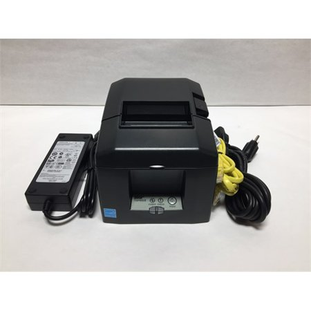 Star Micronics Toner (Refurbished Star Micronics, TSP654IIE3-24 GRY US, Thermal Printer, Ethernet (LAN), Auto Cutter, External Power Supply Incl.)