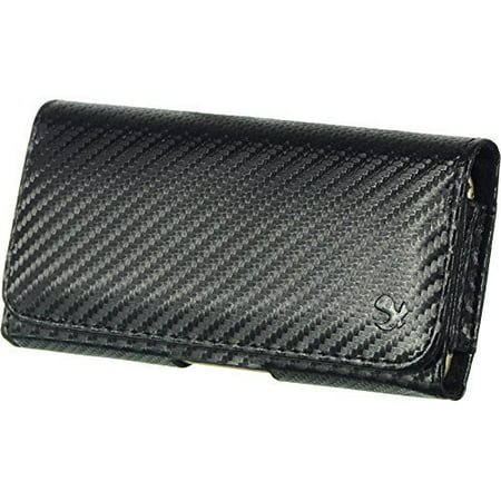Carbon Horizontal Belt Clip Holster Leather Pouch Case for LG G Stylo LS770 H631 -  Importer520