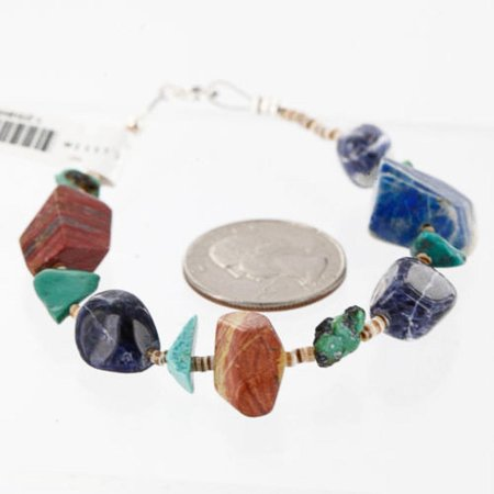 Lapis Jasper (Certified Authentic Navajo .925 Sterling Silver Natural Jasper Lapis Turquoise Native American)