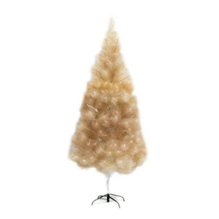 Glitter Tree (ALEKO Artificial Indoor Christmas Holiday Tree - 7 Foot - Gold)