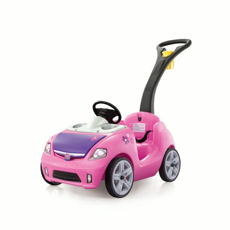 Step2 Whisper Ride II Kids Pink Ride On Push Car