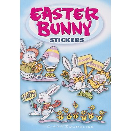 Easter Bunny Stickers - Rocket Bunny Sticker