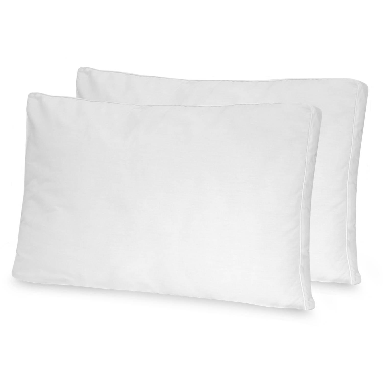 BioPEDIC Low Profile, Flat Pillow, 2-Pack