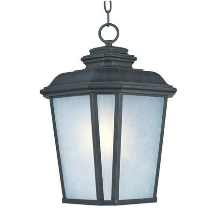 Oxide Fixture (Outdoor Pendant 1 Light Bulb Fixture With Black Oxide Finish Die Cast Aluminum Material Medium Bulbs 11 inch 100 Watts )