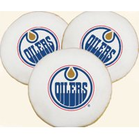 One Dozen NHL Edmonton Oilers Logo Cookies - USA Delivery