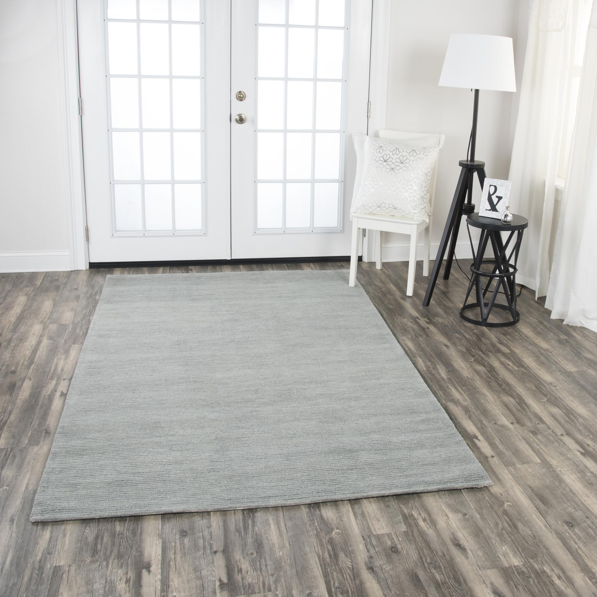 Rizzy Home FA150B Grey 5' x 8' Hand-Tufted Area Rug