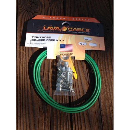 LAVA Cable GREEN Tightrope Solder-Free Pedal Board Kit 10' w/ Strip Tool - Part Number: