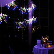 200 Led fireworks light solar light string christmas explosion light fireworks copper wire lights outdoor garden decoration lights(Solar energy)