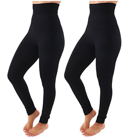 TD Collections Fleece Lined Leggings - High Waist Slimming Thick Tights - Many Colors (Tea Collection Leggings)