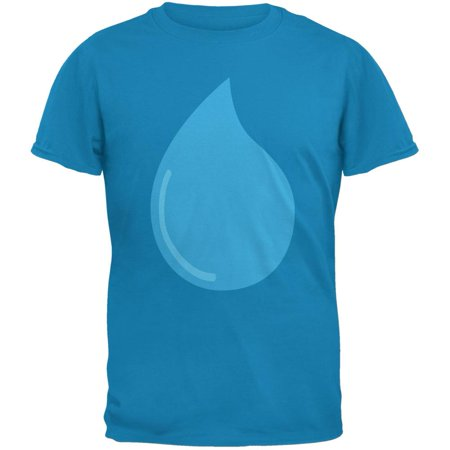 Climate Water March Droplet Costume Sapphire Blue Adult T Shirt