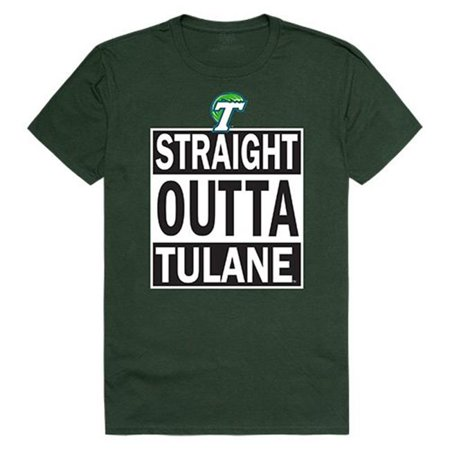 W Republic Apparel 511-198-033-03 Tulane University Straight Outta Tee, Forest - Large - image 1 de 1