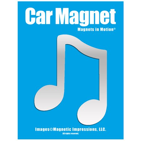 Music Note Car Magnet Chrome (Georgia O Keeffe Blue And Green Music)