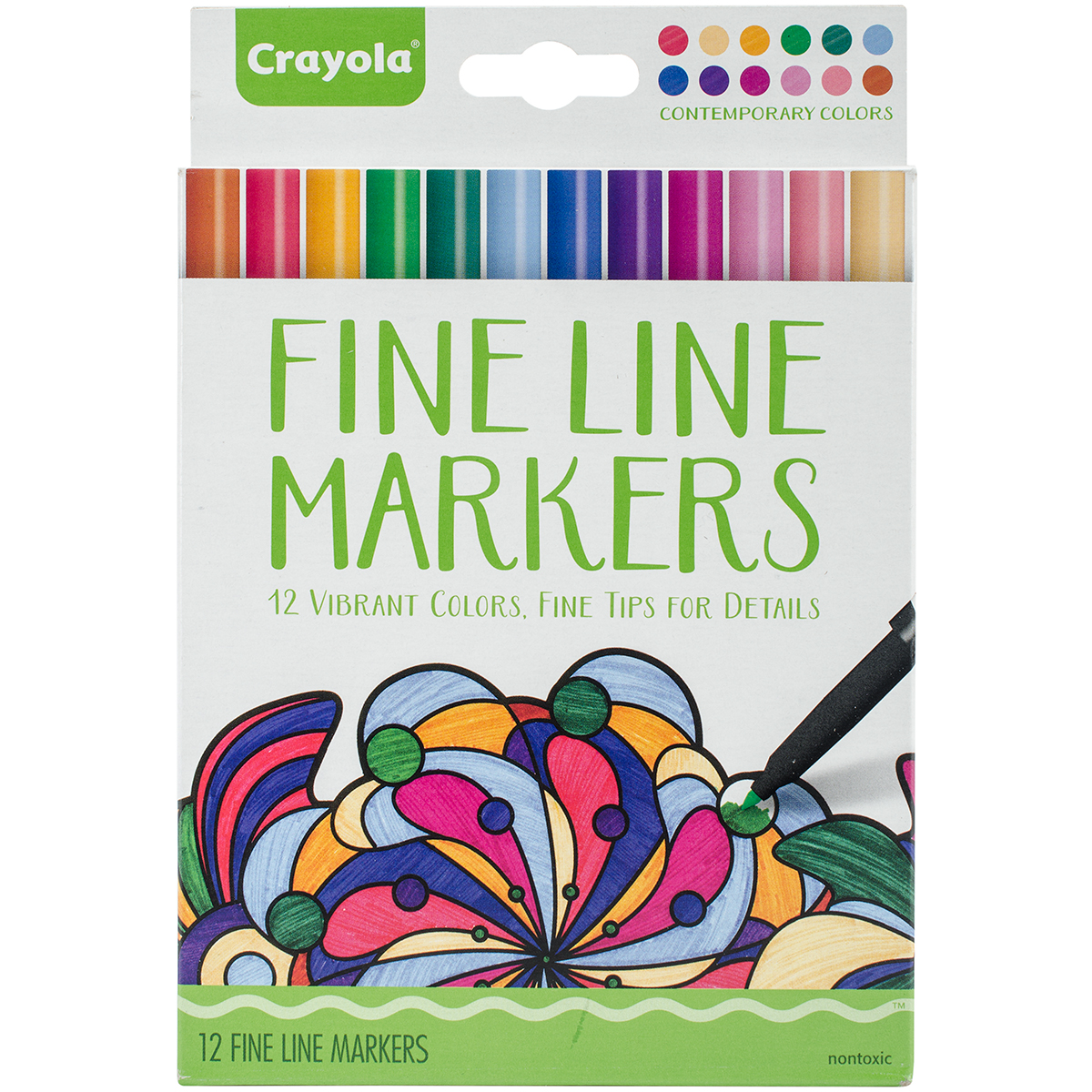 Crayola 12 Count Contemporary Adult Coloring Fine Line Marker by Crayola