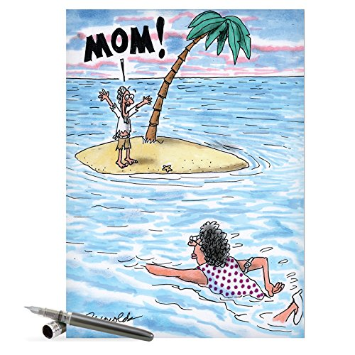 "J0378 Jumbo Humorous Mother's Day Greeting Card: 'mom to the rescue' with Envelope (Jumbo Size: 8.5"" x 11"")"