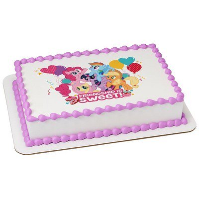 My Little Pony Edible Icing Image For 1 4 Sheet Cake